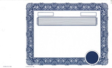 Blank Share Certificates with Frames