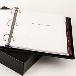 Binders with Slipcover